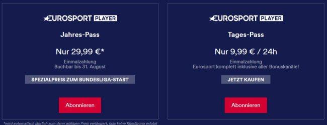 eurosport player tagespass