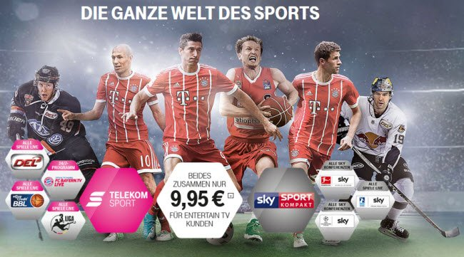 Magenta Sport Sky Sport Kompakt Paket 3 Monate Gratis
