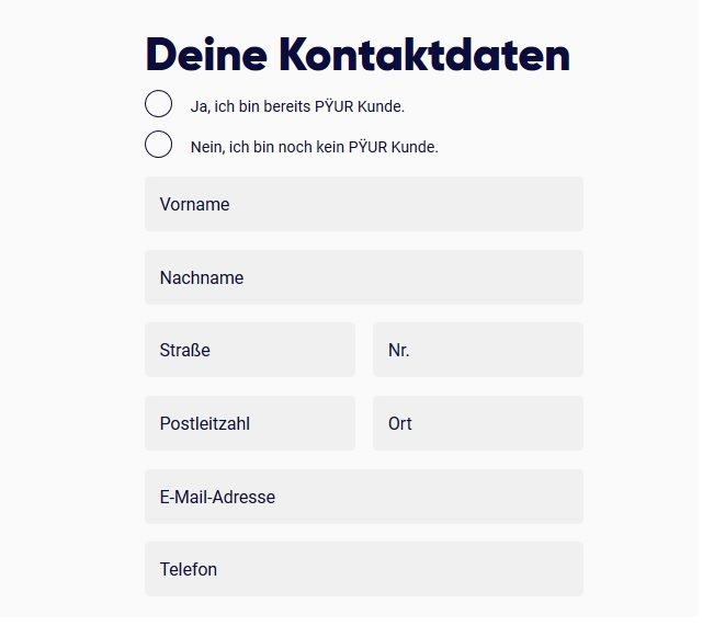 Pyur Kundenservice Kontakt Per Telefon Fax Und E Mail