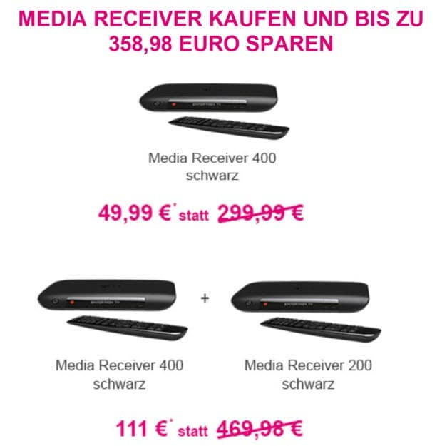 entertain tv mit hd receiver media 400 zum aktionpreis. Black Bedroom Furniture Sets. Home Design Ideas