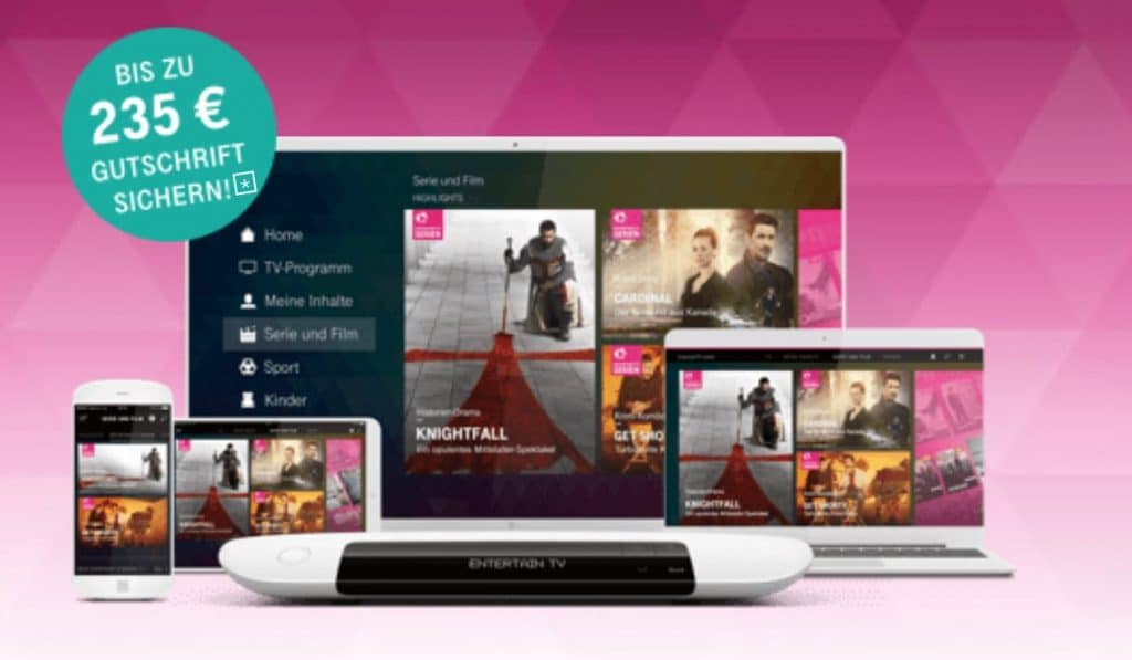 Telekom Magenta TV Angebote mit bis zu 310 € TV-Bonus