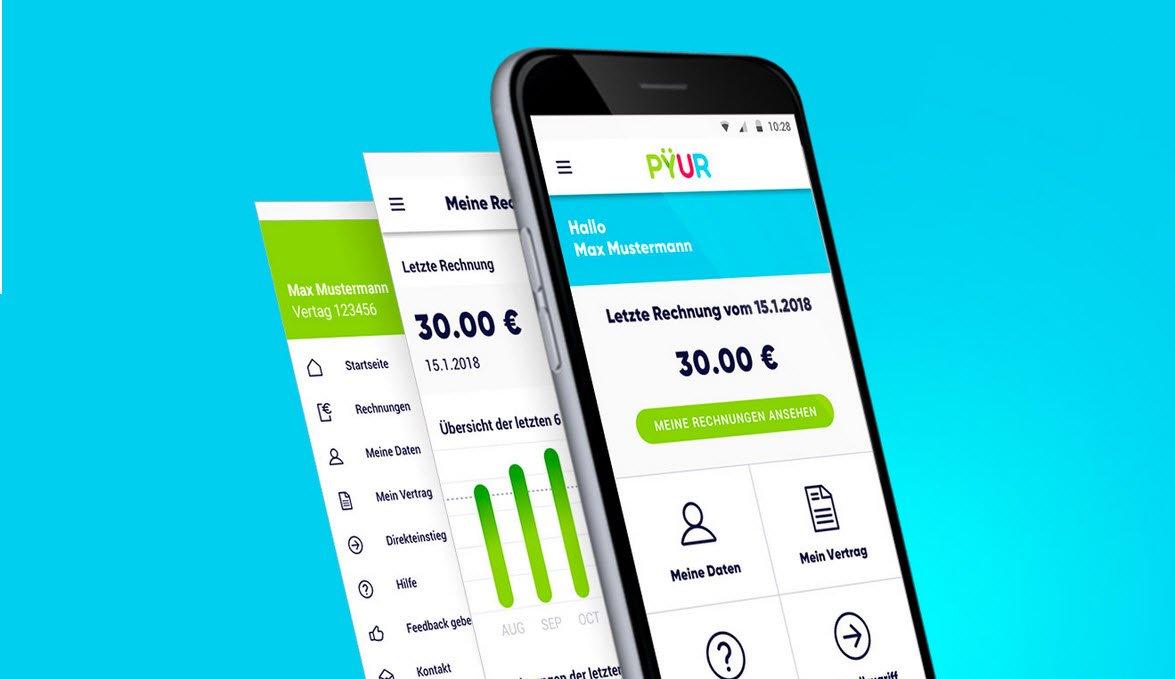 Mein Pyur App - Mehr Kundenservice durch Pyur App