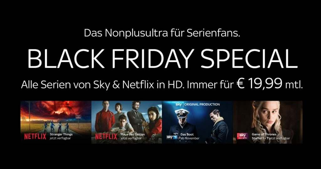 Sky Black Friday 2018: Black Friday Angebote bis 26.11.